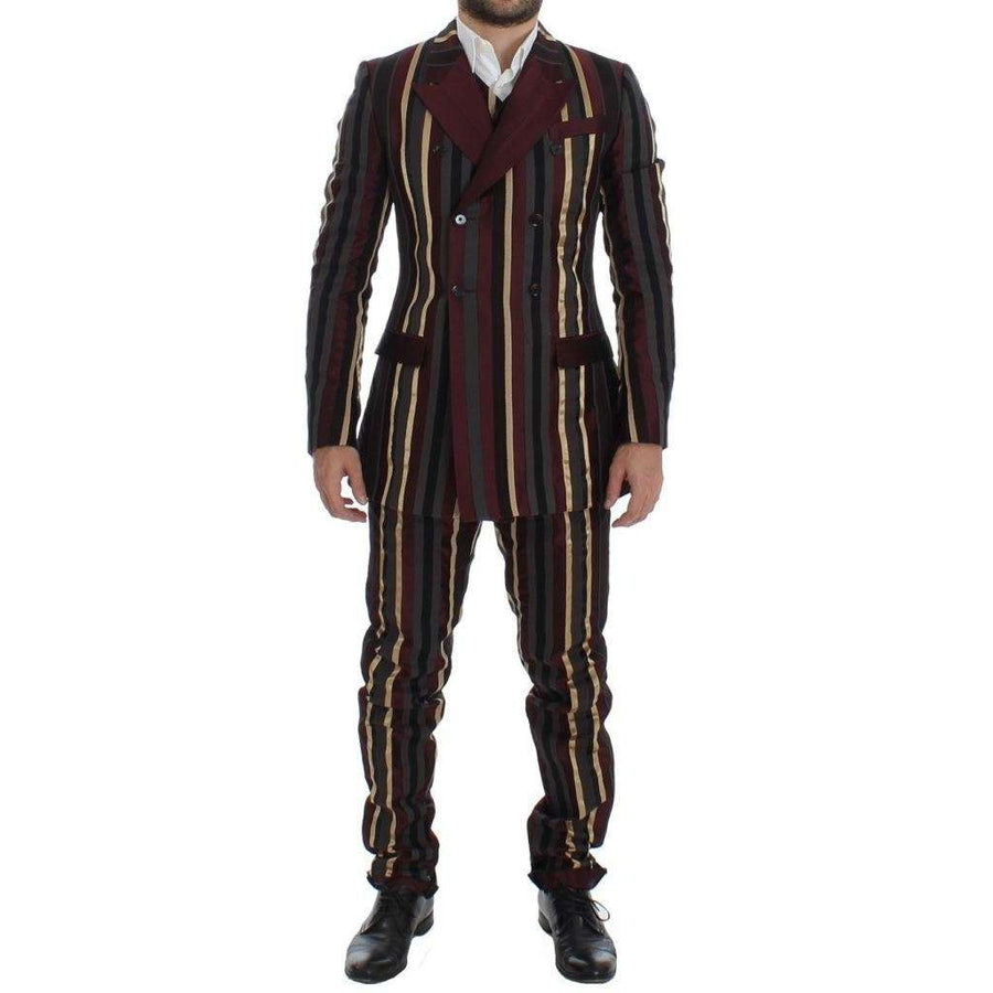 Dolce & Gabbana Multicolor Striped Runway 3 Piece Slim Fit Suit - Men - Apparel - Suits - Classic | Gethuda Fashion