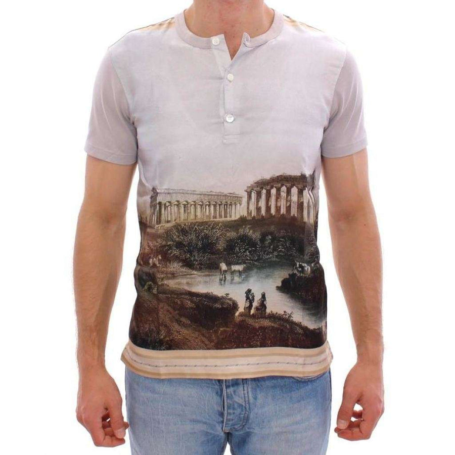 Dolce & Gabbana Multicolor TAORMINA Print t-shirt - Men - Apparel - Shirts - T Shirts - Dolce & Gabbana | Gethuda Fashion