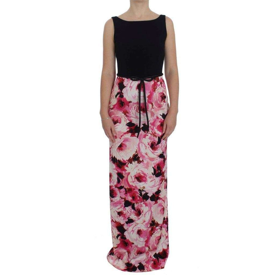 Dolce & Gabbana Pink Floral Print Long Maxi Sheath Dress - Women - Apparel - Dresses - Casual - Dolce & Gabbana | Gethuda Fashion