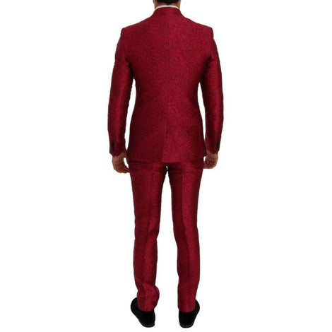 Dolce & Gabbana Pink Jacquard 3 Piece Slim fit Suit - Men - Apparel - Suits - Classic - Dolce & Gabbana | Gethuda Fashion