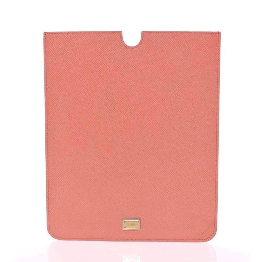 Dolce & Gabbana Pink Leather iPAD Tablet eBook Cover - Tech Accessories - Tablet Covers - Dolce & Gabbana | Gethuda Fashion