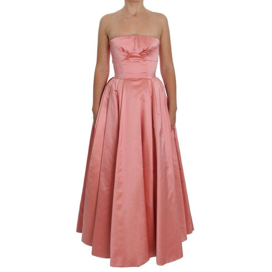 Dolce & Gabbana Pink Silk Ball Gown Full Length Dress - Women - Apparel - Dresses - Casual - Dolce & Gabbana | Gethuda Fashion