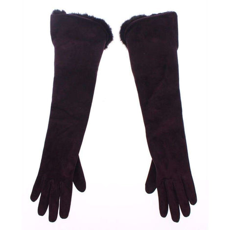 Dolce & Gabbana Purple Mink Fur Goatskin Suede Leather Gloves - Women - Accessories - Gloves - Dolce & Gabbana | Gethuda Fashion