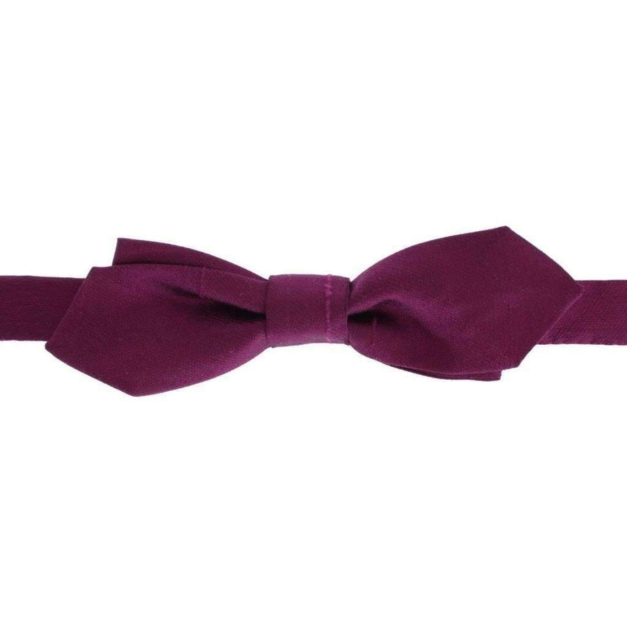 Dolce & Gabbana Purple Solid 100% Silk Neck Bow Tie - Men - Accessories - Ties - Dolce & Gabbana | Gethuda Fashion