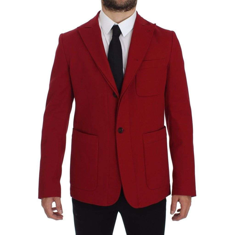 Dolce & Gabbana Red Cotton Stretch Blazer - Men - Apparel - Outerwear - Blazers - Dolce & Gabbana | Gethuda Fashion