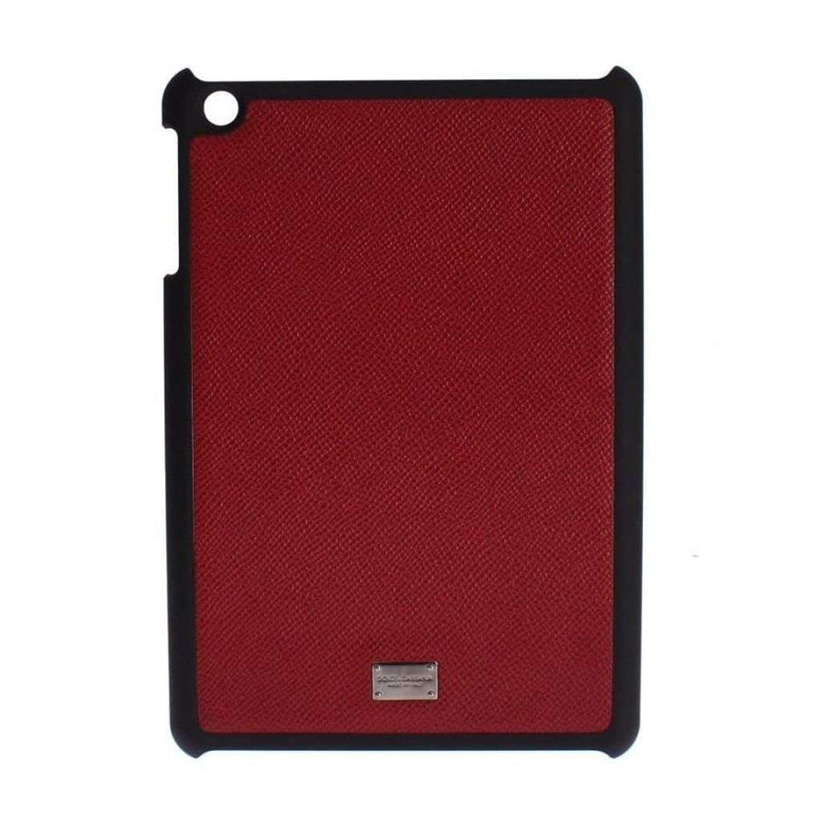 Dolce & Gabbana Red Leather Black Mini Tablet Cover - Tech Accessories - Tablet Covers - Dolce & Gabbana | Gethuda Fashion