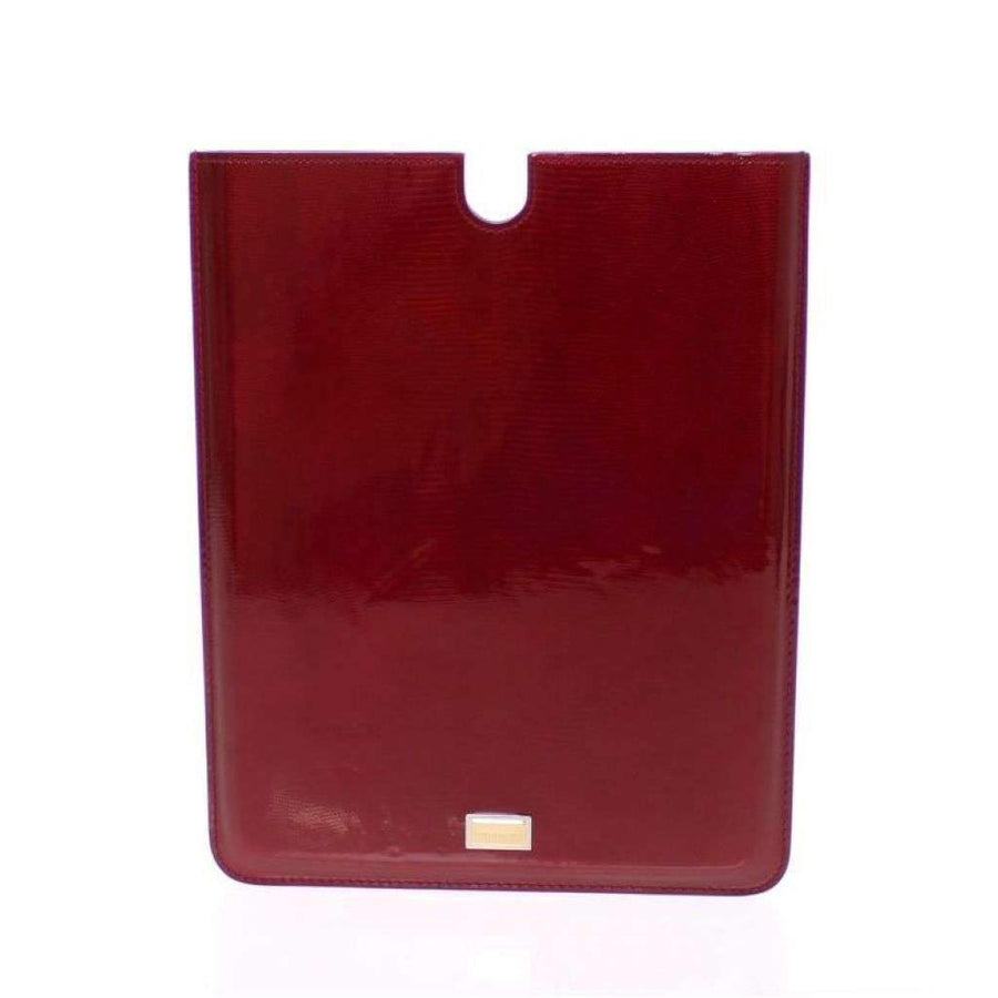 Dolce & Gabbana Red Leather iPAD Tablet eBook Cover - Tech Accessories - Tablet Covers - Dolce & Gabbana | Gethuda Fashion