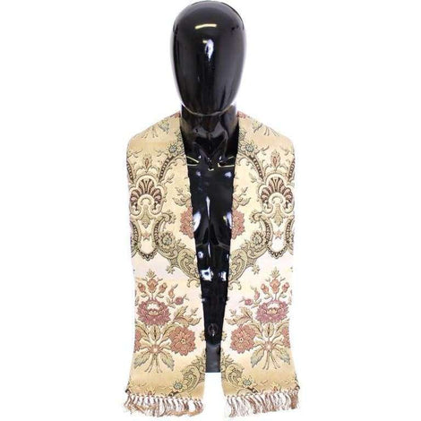 Dolce & Gabbana Scarf Men's Beige Silk Necktie Baroque Pattern - Men - Accessories - Scarves - Dolce & Gabbana | Gethuda Fashion