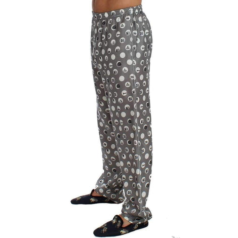 Dolce & Gabbana Silver SILK Pajama Lounge Pants - Men - Apparel - Lingerie And Sleepwear - Pajama Sets - Dolce & Gabbana | Gethuda Fashion