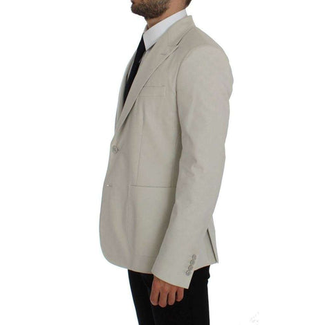 Dolce & Gabbana White Cotton Stretch Blazer Jacket - Men - Apparel - Outerwear - Blazers - Dolce & Gabbana | Gethuda Fashion