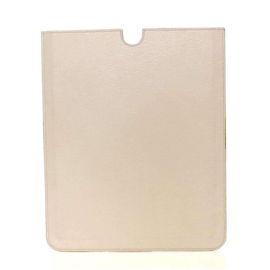 Dolce & Gabbana White Leather IPAD Tablet Case Cover - Tech Accessories - Tablet Covers - Dolce & Gabbana | Gethuda Fashion