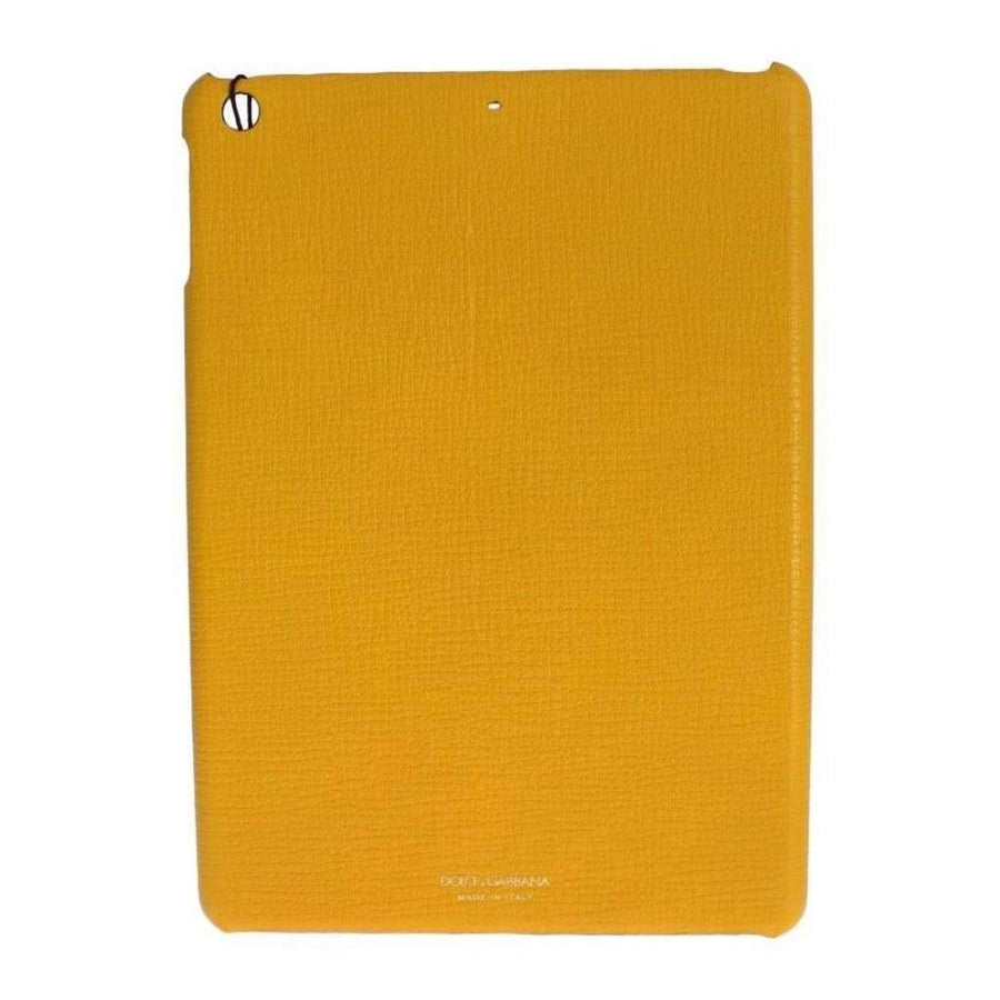 Dolce & Gabbana Yellow Leather Tablet Ipad Case Cover - Tech Accessories - Tablet Covers - Dolce & Gabbana | Gethuda Fashion