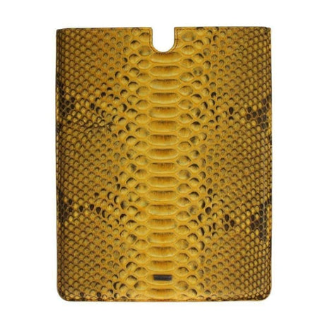 Dolce & Gabbana Yellow Snakeskin P2 Tablet eBook Cover - Tech Accessories - Tablet Covers - Dolce & Gabbana | Gethuda Fashion