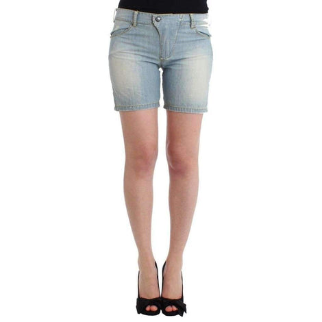 Beachwear Blue Denim City Casual Dress Shorts - Women - Apparel - Shorts - Casual - Ermanno Scervino | Gethuda Fashion