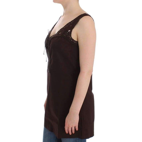 Beachwear Brown Cotton Stretch Tunic Dress - Women - Apparel - Dresses - Casual - Ermanno Scervino | Gethuda Fashion