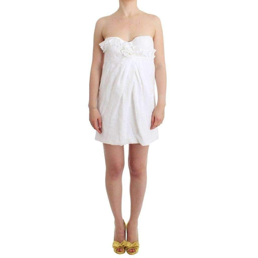 Beachwear White Beach Dress Bustier Mini - Women - Apparel - Dresses - Casual - Ermanno Scervino | Gethuda Fashion