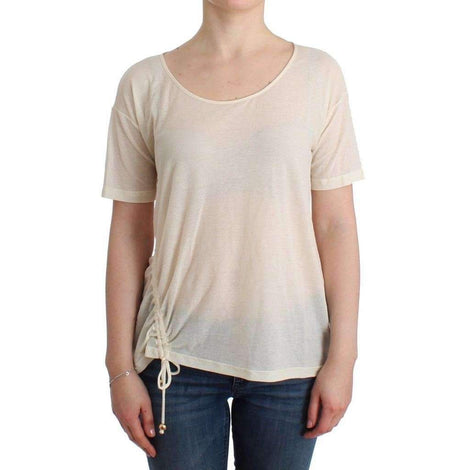 Beachwear White T-Shirt Top Blouse - Women - Apparel - Shirts - T Shirts - Ermanno Scervino | Gethuda Fashion