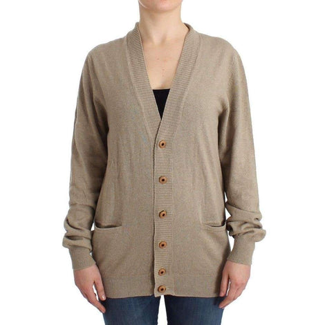 Beige Cardigan Wool Cashmere Sweater Knit - Women - Apparel - Sweaters - Pull Over - Ermanno Scervino | Gethuda Fashion