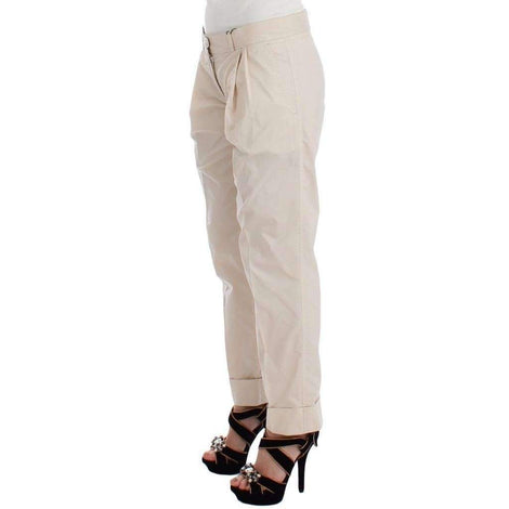 Beige Chinos Casual Dress Pants Khakis - Women - Apparel - Pants - Trousers - Ermanno Scervino | Gethuda Fashion