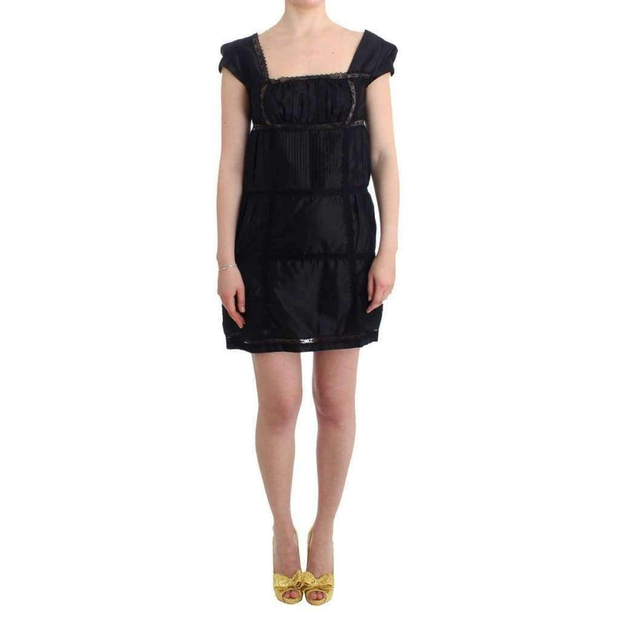 Black Shift Sheath Dress Short Sleeve - Women - Apparel - Dresses - Casual - Ermanno Scervino | Gethuda Fashion