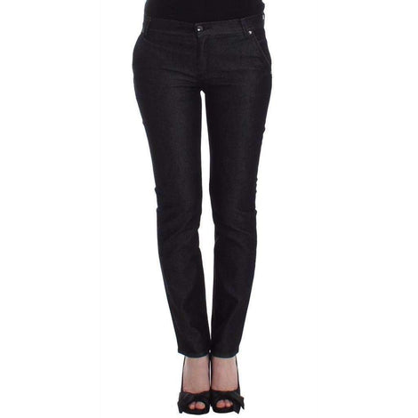 Black Slim Jeans Denim Pants Skinny Leg Stretch - Women - Apparel - Denim - Jeans - Ermanno Scervino | Gethuda Fashion