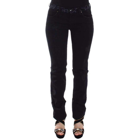 Black Slim Jeans Denim Pants Skinny Stretch - Women - Apparel - Denim - Jeans - Ermanno Scervino | Gethuda Fashion