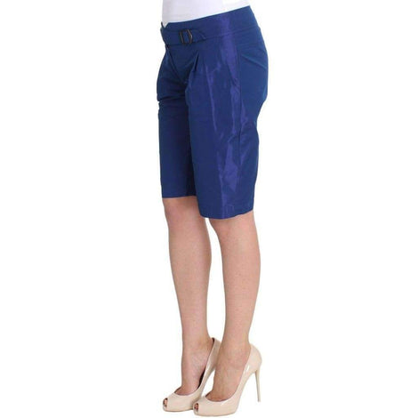 Blue Above Knees Bermuda Shorts - Women - Apparel - Shorts - Casual - Ermanno Scervino | Gethuda Fashion