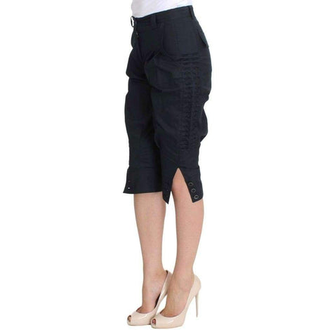 Blue Cotton 3/4 Length Pants - Women - Apparel - Denim - Jeans - Ermanno Scervino | Gethuda Fashion