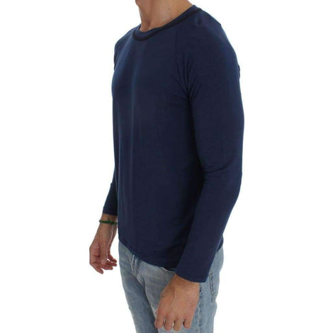Blue Modal Stretch Sweater - Men - Apparel - Sweaters - Pull Over - Ermanno Scervino | Gethuda Fashion