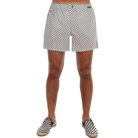 Dolce & Gabbana Light Blue Polka Dot Pajama Shorts - Men - Apparel - Lingerie And Sleepwear - Pajama Sets - Dolce & Gabbana | Gethuda Fashion
