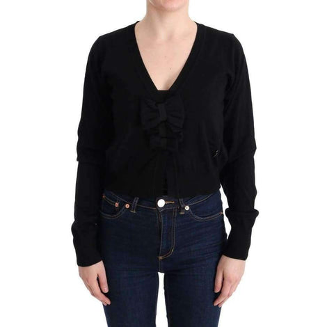 Black Wool Blouse Sweater - Women - Apparel - Sweaters - Pull Over - MARGHI LO' | Gethuda Fashion