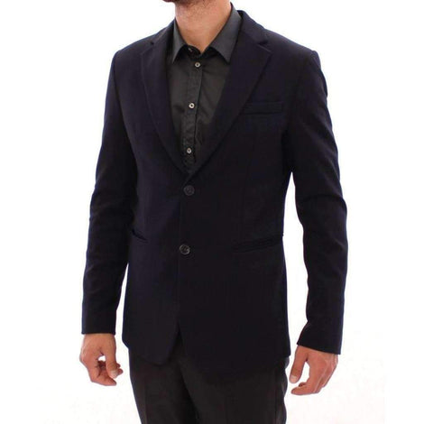 Marine blue slim fit blazer - Men - Apparel - Outerwear - Blazers - Armani | Gethuda Fashion