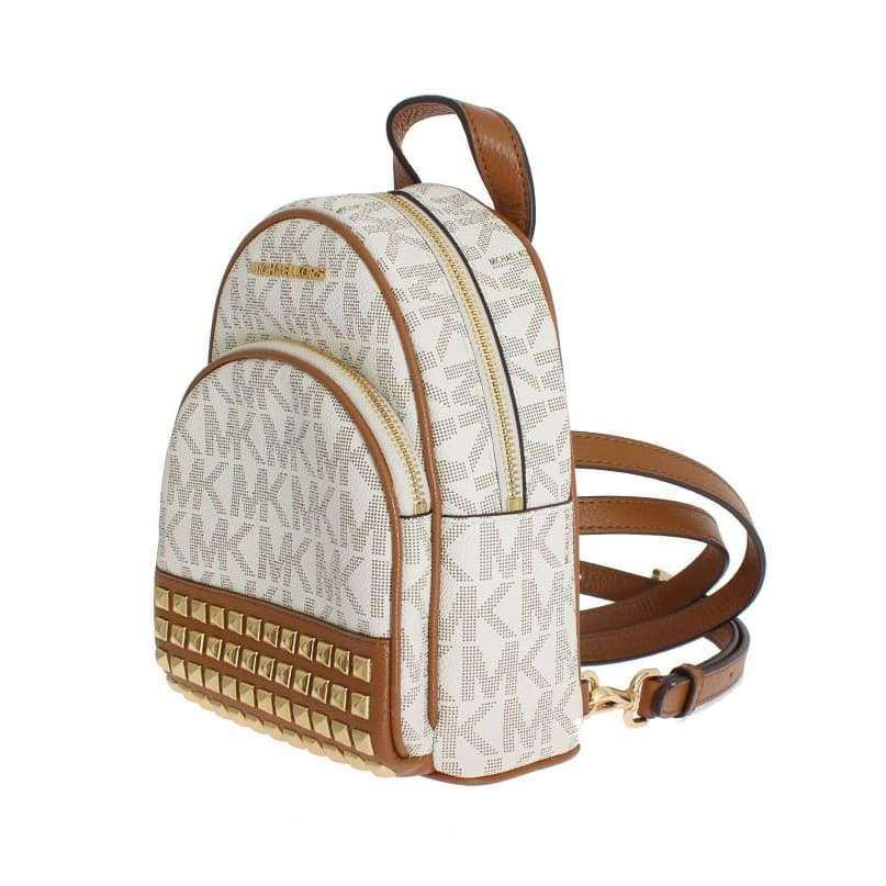 63c27d95f703 Michael Kors White Abbey Leather Xs Backpack