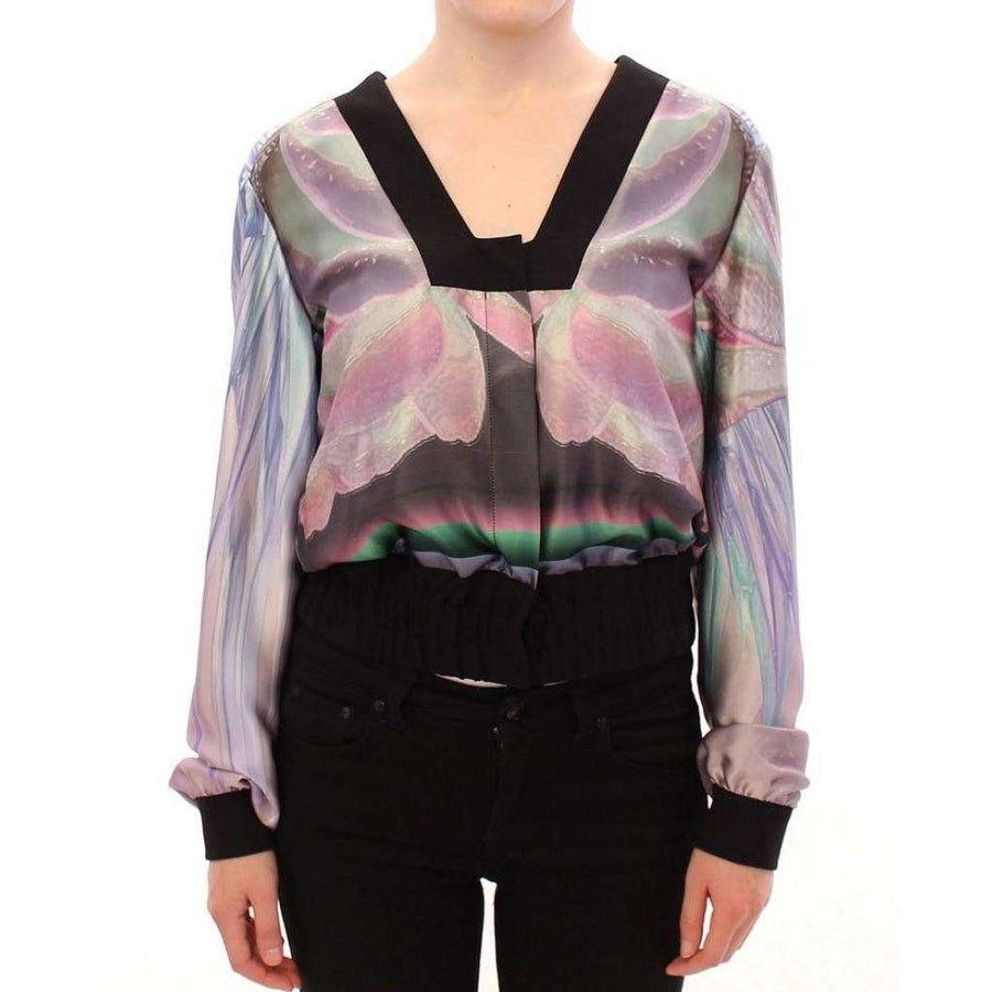Multicolor silk blouse jacket - Women - Apparel - Outerwear - Jackets - Sergei Grinko | Gethuda Fashion