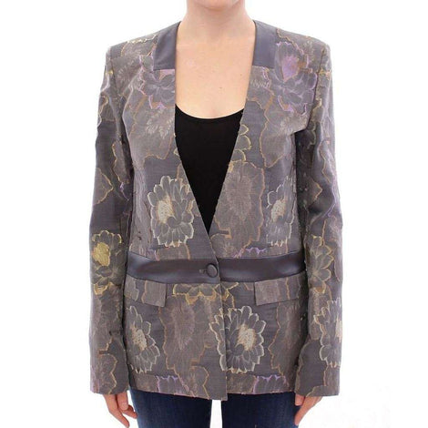 Multicolor Silk Floral Cotton Blazer - Women - Apparel - Suits - Classic - Roberto Fragata | Gethuda Fashion