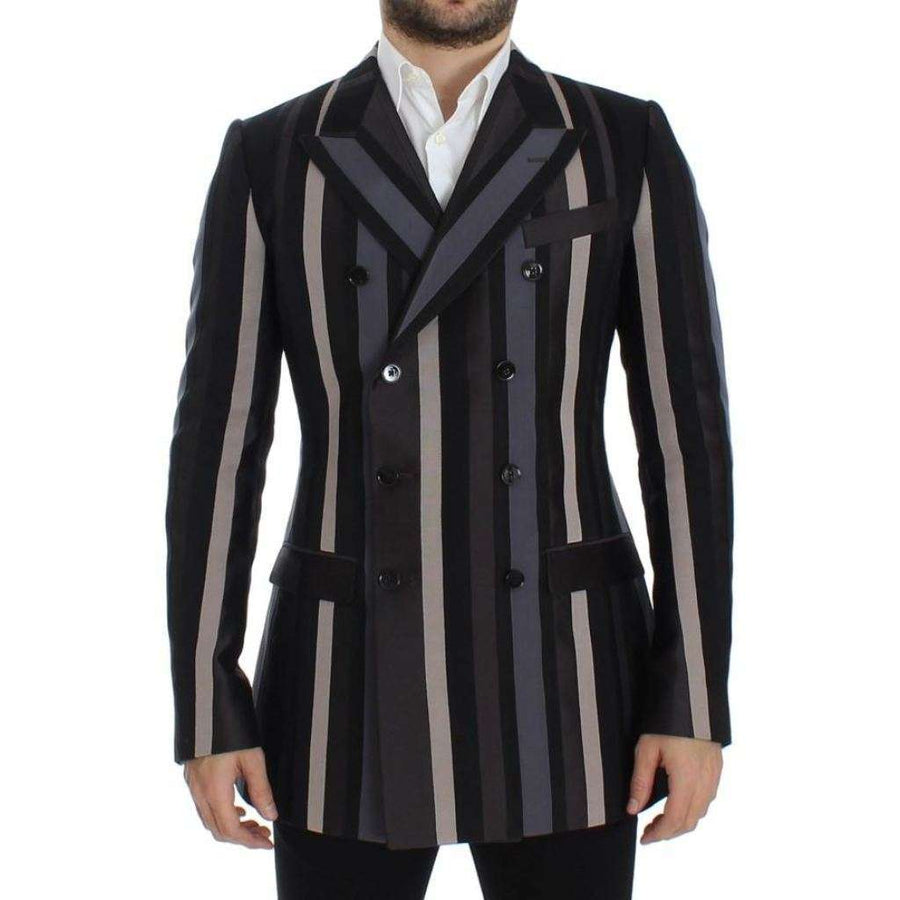 Dolce & Gabbana Multicolor striped wool slim blazer - Men - Apparel - Outerwear - Blazers - Dolce & Gabbana | Gethuda Fashion
