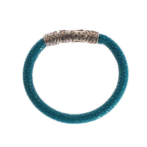 Blue Stingray 925 Vintage Bracelet - Women - Jewelry - Bracelets - Nialaya | Gethuda Fashion
