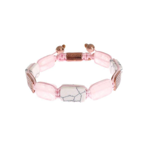 CZ Quartz Howlite Rose Gold 925 Bracelet - Women - Jewelry - Bracelets - Nialaya | Gethuda Fashion