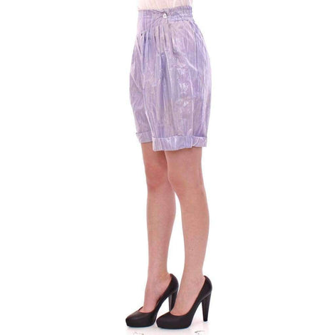 Purple Above-Knee Wrap Shorts - Women - Apparel - Shorts - Casual - Licia Florio | Gethuda Fashion