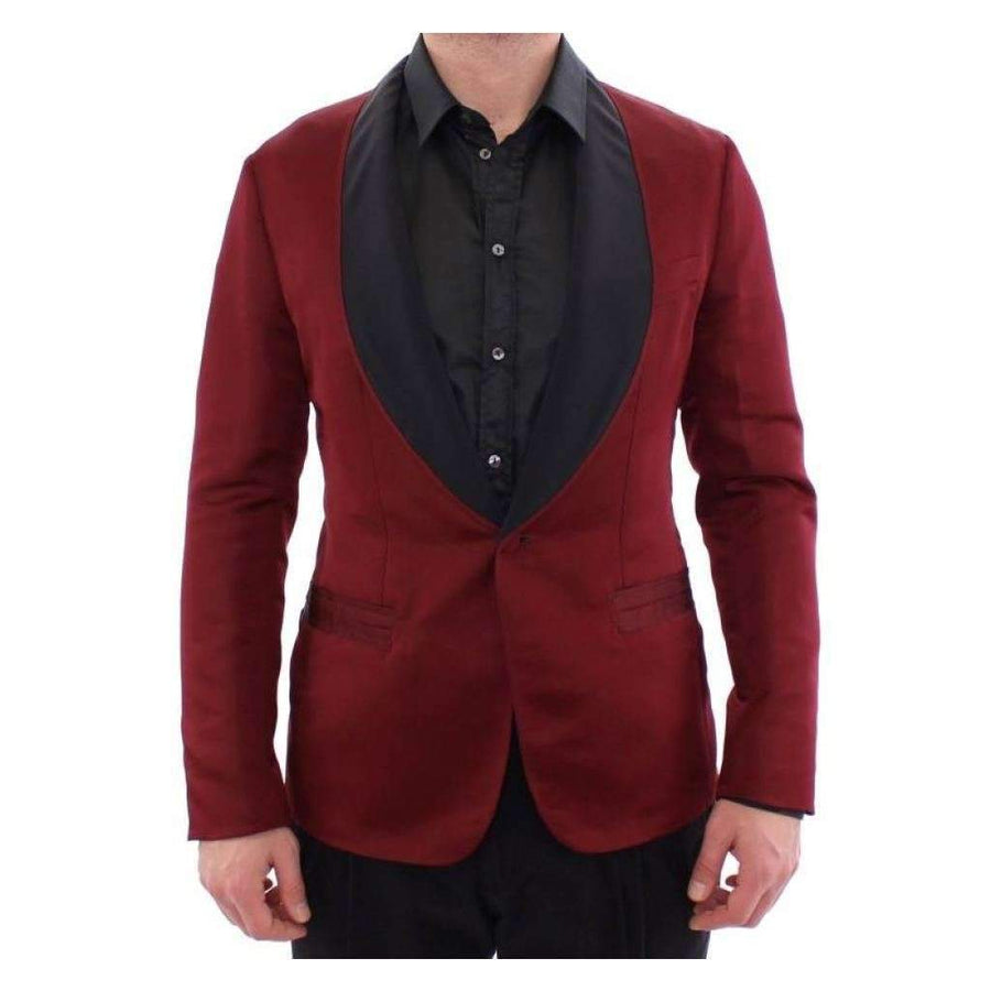 Dolce & Gabbana Red burgundy slim fit smoking blazer - Men - Apparel - Outerwear - Blazers - Dolce & Gabbana | Gethuda Fashion