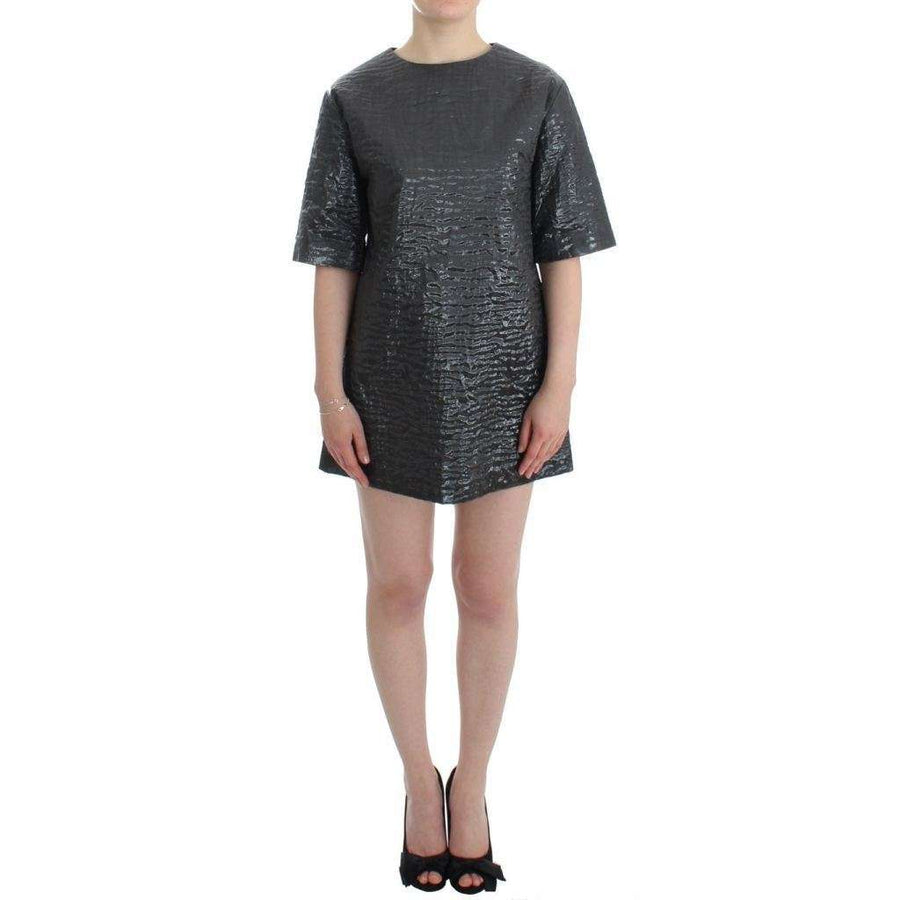 Silver metallic short sleeve dress - Women - Apparel - Dresses - Casual - House of Holland | Gethuda Fashion