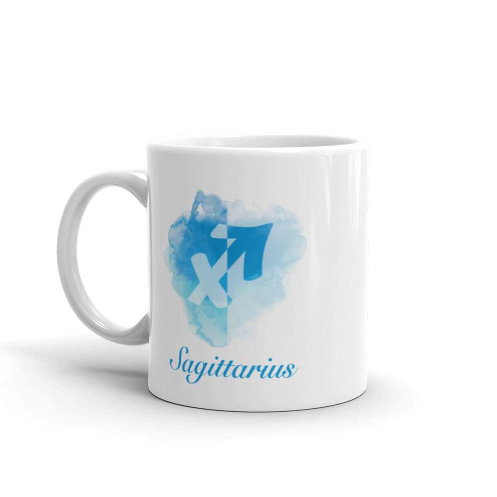 Beautiful Blue Sagittarius Zodiac Mug - Perfect Gift