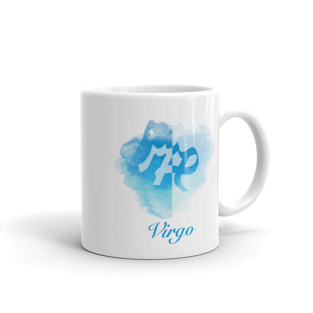 Beautiful Blue Virgo Zodiac Mug - Perfect Gift