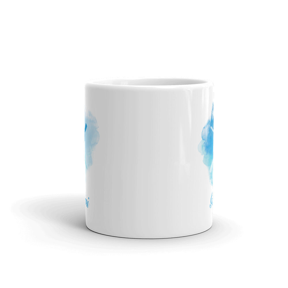 Beautiful Blue Gemini Zodiac Mug - Perfect Gift