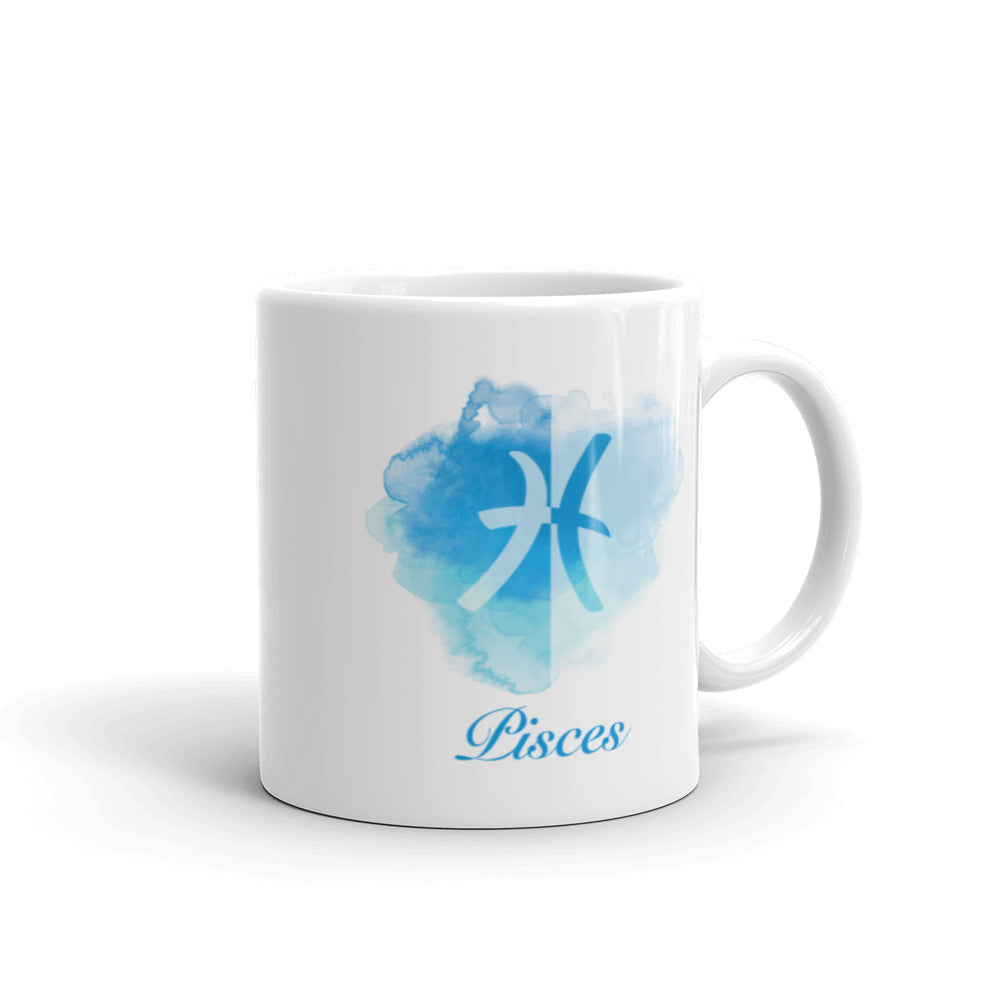 Beautiful Blue Pisces Zodiac Mug - Perfect Gift