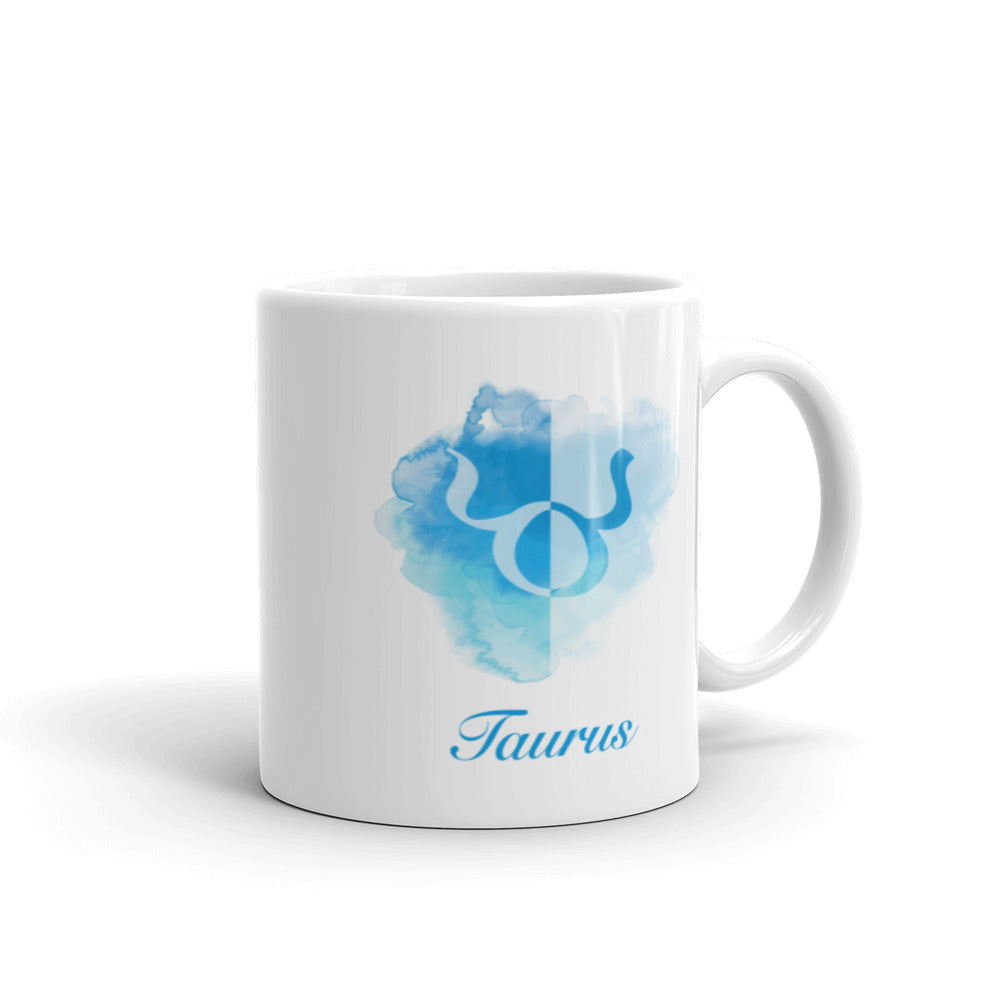 Beautiful Blue Taurus Zodiac Mug - Perfect Gift