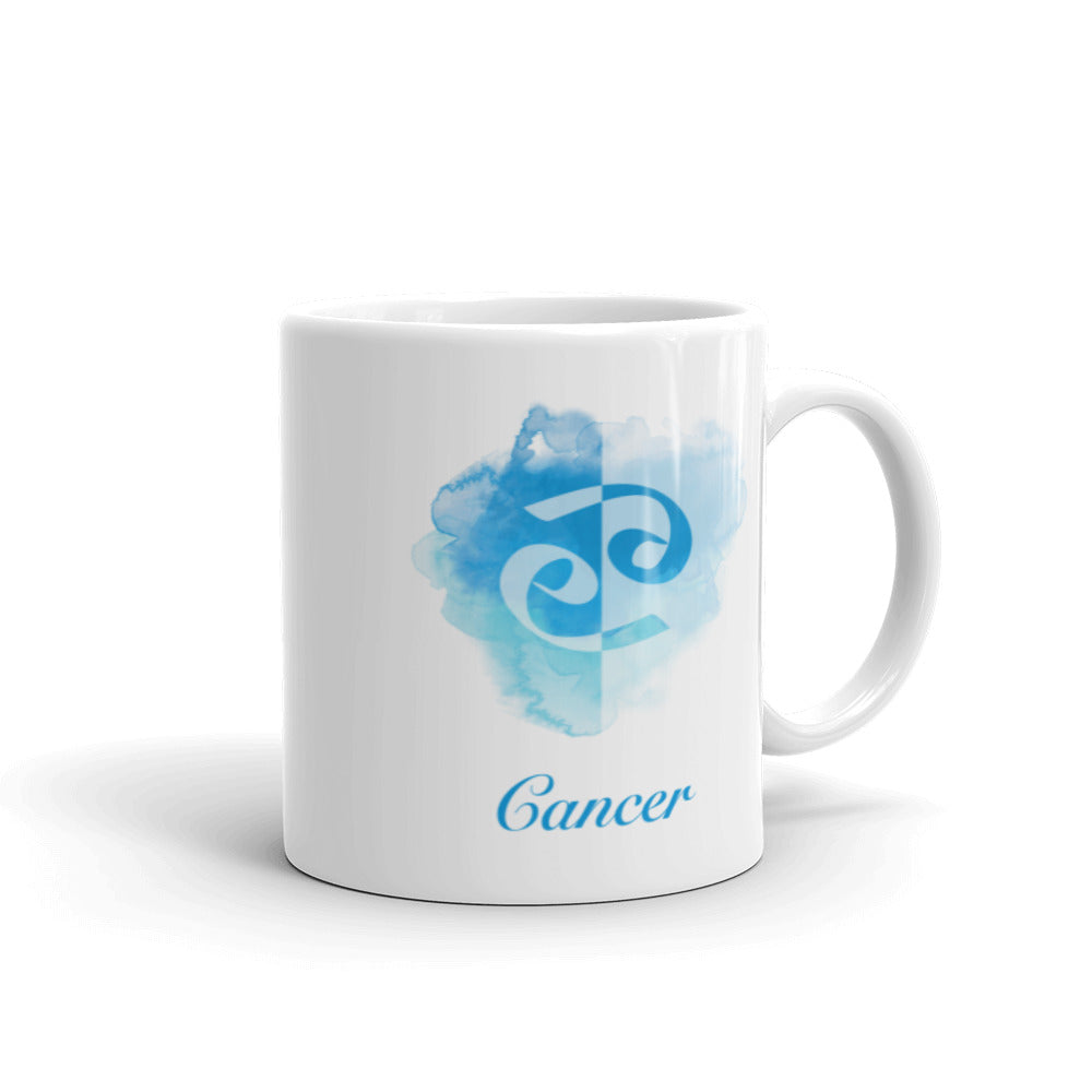 Beautiful Blue Cancer Zodiac Mug - Perfect Gift