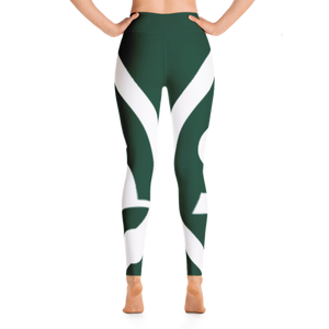 Solar Republic Earth Green Athletic Leggings - Soft, Stretchy and Comfy - The Solar Republic