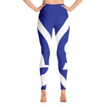 Solar Republic Earth Blue Athletic Leggings - Soft, Stretchy and Comfy - The Solar Republic