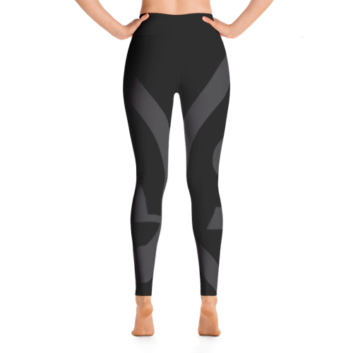 Solar Republic Grey Yoga Pants - Back